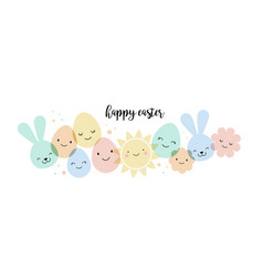 easter card banner and background design vector image vector image