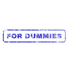 For dummies rubber stamp vector
