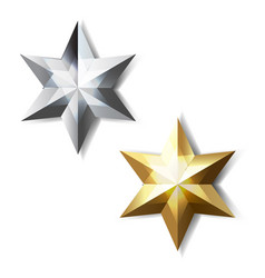 Golden and silver stars vector