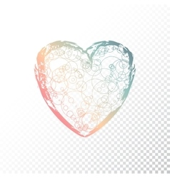 hand drawn ombre heart vector image vector image