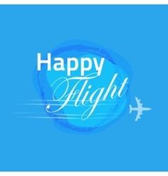 Happy flight card blue banner design vector