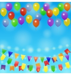 Holiday background with balloon vector