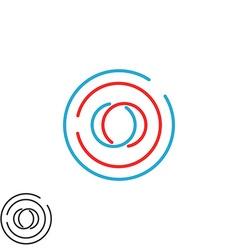 Initials oo monogram weave letters o o logo vector