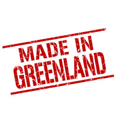 Made in greenland stamp vector