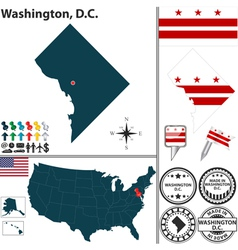 Map of washington dc vector