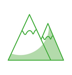 Mountains landscape symbol vector