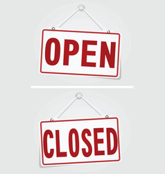 Open and closed signs vector