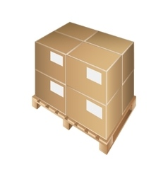 pallet box transportation packing crate loading vector image