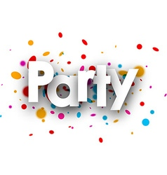 Party paper banner vector image vector image