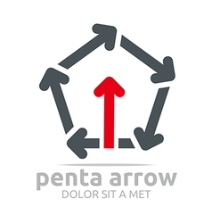 Penta arrow design element symbol icon vector