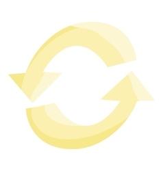 Refresh arrows icon cartoon style vector