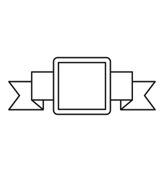Small square banner icon outline style vector