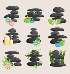 Spa stones isolated and relaxation isolated vector