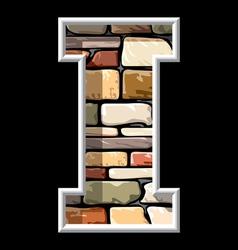 Stone letter i vector
