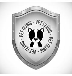 vet clinic design vector image vector image