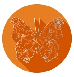 Flat icon of butterfly vector image