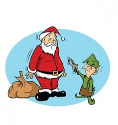 Santa elf vector image