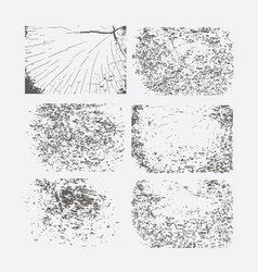 set of grunge textures abstract template vector image