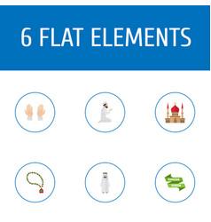 Flat icons ramadan kareem palm arabian and other vector