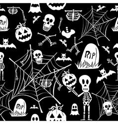 Happy Halloween elements seamless pattern vector image