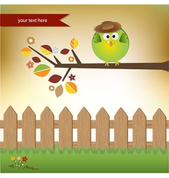 Cute little boy bird vector