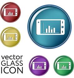 Smartphone with diagram vector