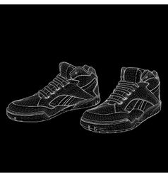Eps 10 of sport shoes for vector