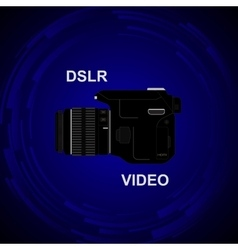 Dslr video camera vector