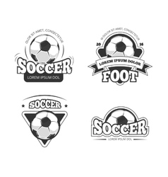 Soccer league club badges labels vector
