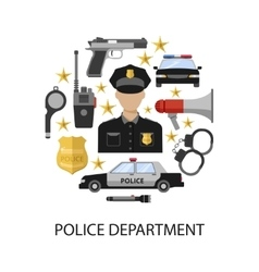 Police Department Round Design vector image