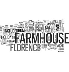 A farmhouse holiday florence style text word vector