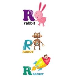 Alphabet letter - r vector