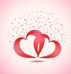 background of pair of valentine vector image vector image