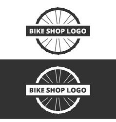 Bike shop logo vector