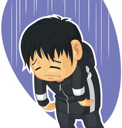 Cartoon of sad boy vector