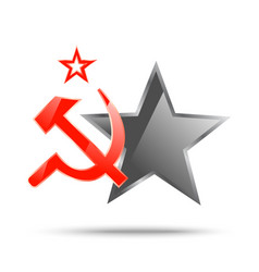 Communism symbolic banner vector