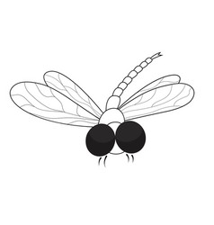 Dragonfly black and white vector
