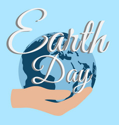 earth day planet care nature vector image vector image
