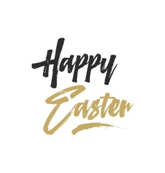 Easter sign - happy easter easter wishe overlay vector