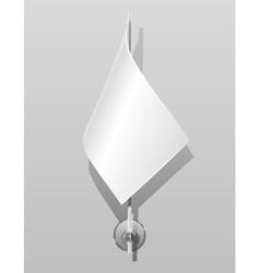 flag on flagstaff vector image vector image