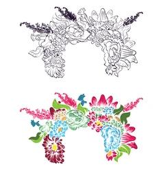 Flower Crown4 vector image
