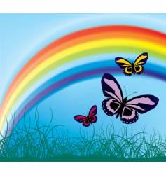 flying butterflies vector image