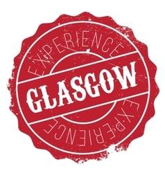 Glasgow stamp rubber grunge vector