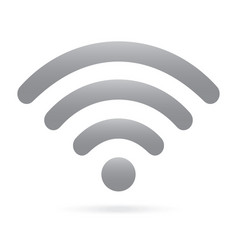 gray wifi icon wireless symbol on isolated vector image vector image