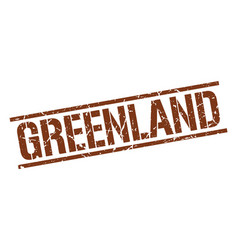 Greenland brown square stamp vector