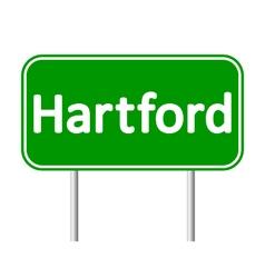 Hartford green road sign vector