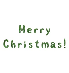 Lettering holiday Merry Christmas vector image vector image