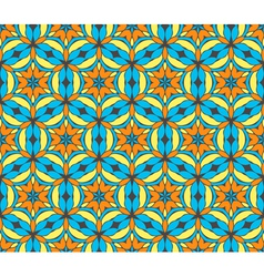 Oriental seamless symmetrical pattern vector image vector image