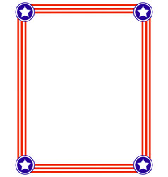 patriotic frame with usa flag vector image
