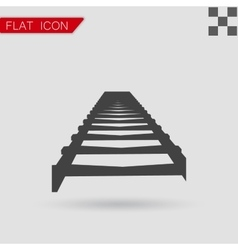 Rail Road icon Flat Style vector image vector image